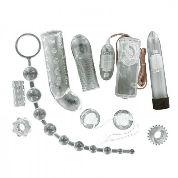 9 Piece Extreme Pleasure Couples Kit Crystal Diamond