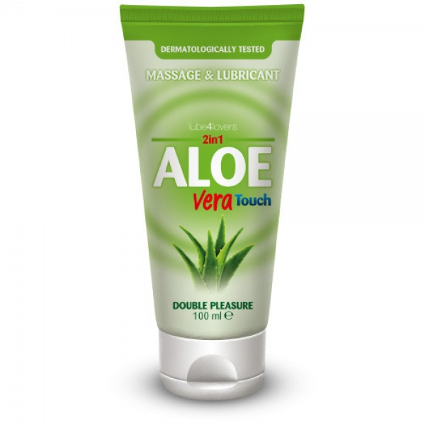 2 in 1 Aloe Vera Touch Lubricant Massage Gel 100ml